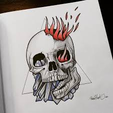 this desing for skull drawing draw sketcht flickr