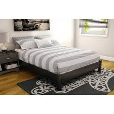 laguna queen platform bed with headboard black woodgrain