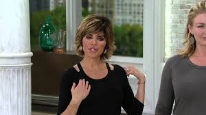 lisa rinna collection knit tunic with cut out neck detail on qvc