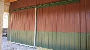 12 x12 garage door pole barn sliding doors pole barns direct