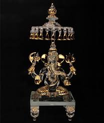 online shopping of home decor buy sutra decor god idols lord ganesha with chatra crystal glass