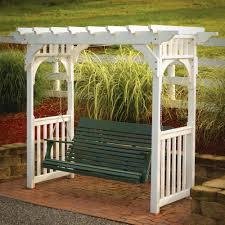 Pergola Swings White Wicker Porch Swing Antique