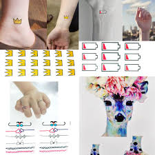 finger tattoo stickers miniature finger fake ring tattoo stickers waterproof women cute bow