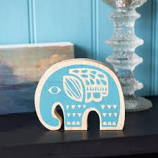 wooden elephant ornament dotcomgiftshop