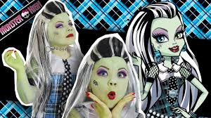 cosplay frankie stein monster high doll costume makeup tutorial