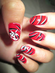 nail arts red and black nail art ideas tutorial red nail art