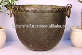 handmade multicolor color indian copper planter 23 5 x 32 inches