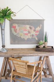 United States Map Wall Art by Cotton Blend Banner Patchwork Usa Map