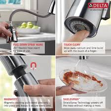 how to clean kitchen faucet delta esque pull touch single handle kitchen faucet with