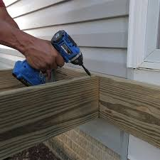 how to build a deck post holes and framing