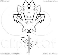 cartoon clipart of an outlined sick marijuana pot leaf mascot