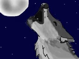 drawing of a wolf howling at he moon by lizzy4935 on deviantart