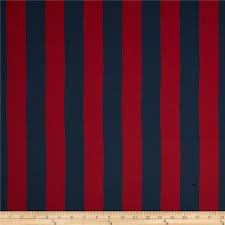 Blackout Drapery Fabric Rca Vertical Stripe Blackout Drapery Fabric Navy Red Discount