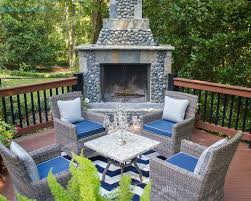 Pub Patio Furniture Atlanta River Rock Fireplace Deck Traditional With Copper Outdoor