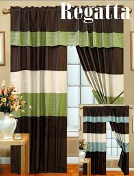 Green And Brown Curtains Beautifuldesignns Blue And Brown Curtains