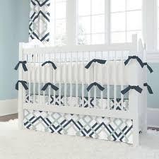 navy and gray geometric crib rail cover carousel designs