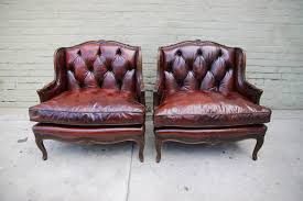 Rustic Leather Armchair Distressed Leather Ottoman Rustic Red Leather Sofa Red