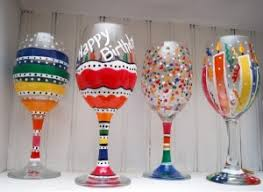Painted Wine Glasses 7 9pm Faux Time Design