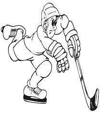 hockey coloring hockey player coloring