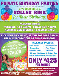 ice skating birthday party invitations kids birthday parties cleveland oh united skates of america