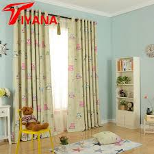 owl bedroom curtains cartoon owl printed design curtains for kids children blue thick