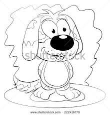 dog antistress coloring book adults black stock vector 552311095