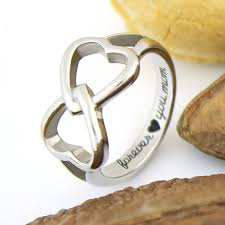 mothers infinity ring hearts mothers ring infinity ring promise ring by tzaro