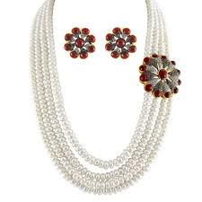 silver pearl necklace set images Pearl necklace set by jpearls sjpsep 91150 necklace sets jpg
