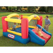 little tikes jump u0027n slide inflatable bouncer toys