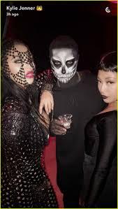 steven tyler halloween mask kylie jenner hosts epic halloween dinner with tyga u0026 kendall