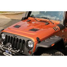 orange jeep rugged ridge 17759 01 performance vented hood 07 15 jeep wrangler