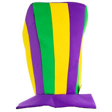 mardi gras wear mardi gras tri color oversized stovepipe hat one size party wear