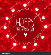 valentines day lights vector background lights valentines day stock vector