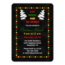 christmas brunch invitations christmas brunch invitations announcements zazzle