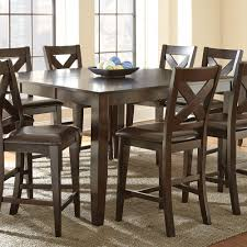 steve silver crosspointe 9 piece counter height table set in dark