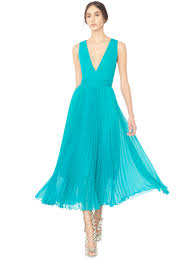 ryn deep v neck midlength pleated dress with tie belt by alice