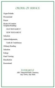 sle funeral program plain funeral program template