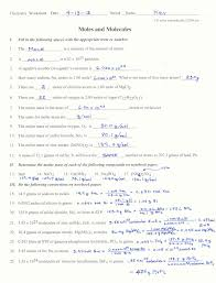 mole worksheet with answers worksheets