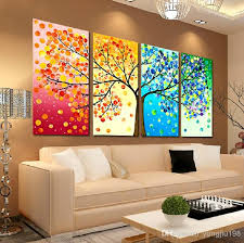 2018 2016 new cross stitch kits colorful tree four seasons peace