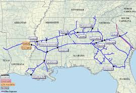 South Louisiana Map by Southern Company Kinder Morgan Enter Southern Natural Gas