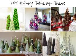 Live Tabletop Christmas Tree Decorated by Round Up Diy Holiday Tabletop Trees In The Know Mom