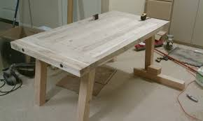 Diy Farmhouse Dining Room Table Unfinished Diy Pine Farmhouse Dining Table For Small Dining Room