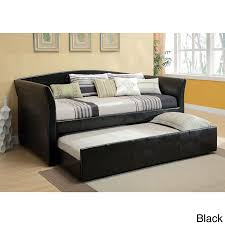 Laminate Flooring In India Furniture Leather Modern Daybed With Trundle In Dark Brown Color