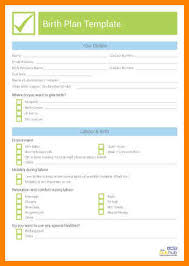 7 c section birth plan template dialysis nurse