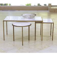 Gold Table L Iron With Gold Paint Finish Honed White Marble Top Available