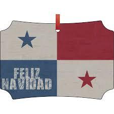 panama flag feliz navidad hanging berlin shaped tree ornament