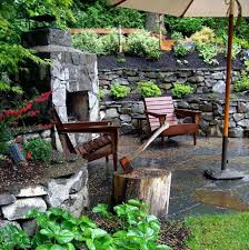 outdoor fireplace ideas patio ideas built in patio wall medieval style stone fireplace