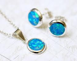 opal earrings stud white opal jewelry set opal earrings opal pendant gemstone