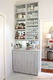 Gray Bar Cabinet Diy Narrow Built In Bar With Plans The Creativity Exchange Love