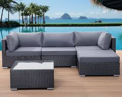 Rattan Settee Rattan Garden Furniture With Black Cushions Cloud Mountain 6